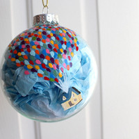 Disney-Pixar's Up Balloon House Glass Christmas Ornament