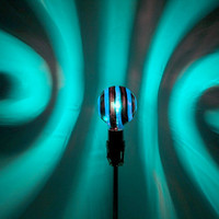 The ORIGINAL Hand-Painted Turquoise Spiral Mood-Light Bulb 4 Color Therapy, Night Lights, Parties, Mood Lighting