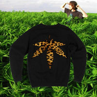 UNISEX Inverted Leopard Print Marijuana 420 by fASHLINdotcom