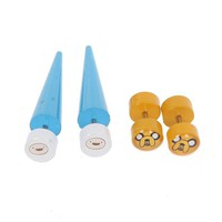 Adventure Time Jake And Finn Faux Taper And Plug 4 Pack - 136259