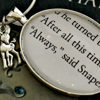 Harry Potter Snape Lily Always necklace with by PageFromMyBook