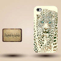 Iphone case, Iphone 4 case, Iphone 4s case, Iphone 5 case, unique handmade hard Plastic case,leopard, yellow