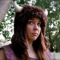 "Buffalo ""Where the Wild Things Are"" furry animal hat"