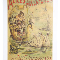 Illustrated Abode Poster in Alice?s Adventures | Mod Retro Vintage Wall Decor | ModCloth.com