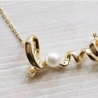Romantic LOVE Word Earrings and Necklace Set