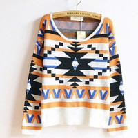 The geometric patterns hedging national wind thick sweaters sweater from Fashion Accessories Store