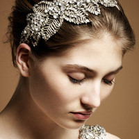Jenny Packham - Luxury Design House. Bridal and Ready to Wear Dresses & Accessories - Acacia II Silver Bridal Headdress