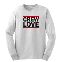 CREW LOVE LONG SLEEVE T-shirt Drake YMCMB Lil' Wayne LONG Sleeve Tee Shirt