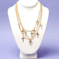 On Repeat Cross Necklace $9