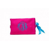Create your own Waffle Weave Makeup Bag - 3 Initial Monogram - Waffle Weave Make Up Bags  - Make-Up, Totes and Duffle Bags   |  Shop Glitzy Glam