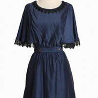 hansel dress in navy by Dear Creatures at ShopRuche.com, Vintage Inspired Clothing, Affordable Clothes, Eco friendly Fashion