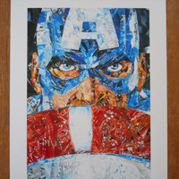 Red, White and Legend - Upcycled Art