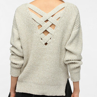 Urban Outfitters - Sparkle &amp; Fade Crisscross Back Sweater
