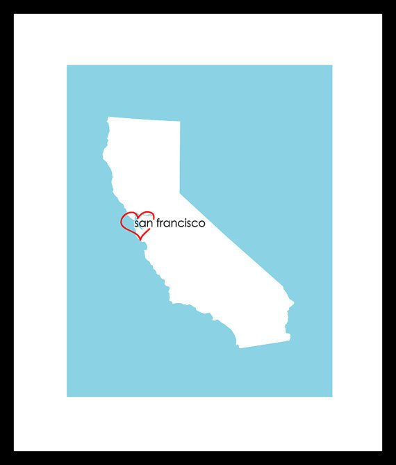 Custom State/City Heart Love Print  Wedding Print  by karimachal