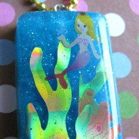 Mermaid  Under The Sea Resin Necklace