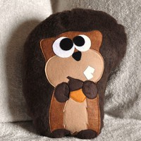 Scurry the Squirrel Plush Pillow by bedbuggs on Etsy
