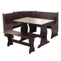 3 Piece Nook Dining Set - Espresso