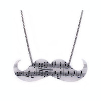 Mustache Music Necklace