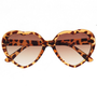 Heart Tortoise Shell Sunglasses