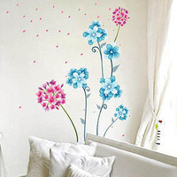 Pretty Flowers Restaurant livingroom decor wallsticker - GULLEITRUSTMART.COM