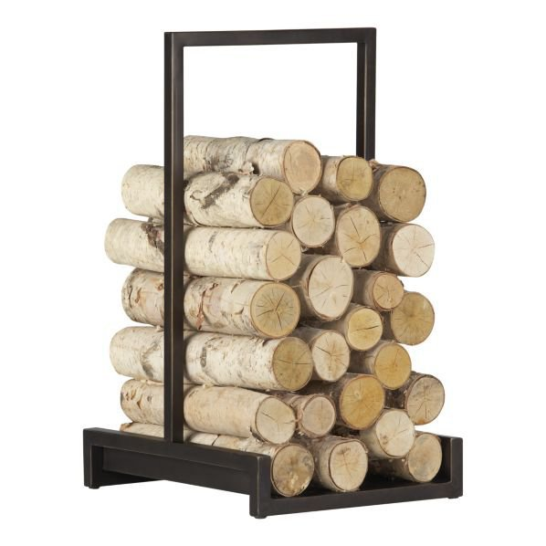 Alton Bronze Log Holder in Fireplace Accessories | Crate&Barrel