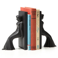 LEANING LADIES BOOKENDS | Book, Decorative, Library, Women, UncommonGoods. | UncommonGoods