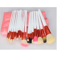 20pcs White Professional Cosmetic Makeup Make up Brush Brushes Set Kit With Pink Bag Case