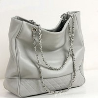 Wholesale Korean Chain PU Handbag Silver