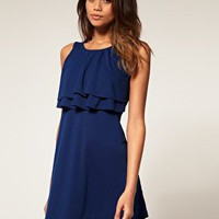 ASOS | ASOS Shift Dress with Frill Front at ASOS