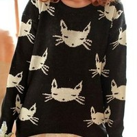 Cat Pullover Sweater from Seek Vintage