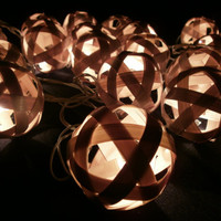 Bamboo balls Hanging stringlights for party and home decoration indoor and outdoor (20 balls/pack)