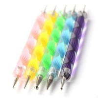 Nail Art Dotting Tools / Dotting Pens- Set of 5 Double Ended Nail Art Dotting and Marbling Tools fo