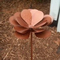 Metal Flower Yard Garden Art by KnobCreekMetalArts on Etsy