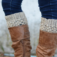 Boot Cuffs // Boot Socks // Boot Toppers // Oatmeal // Puffy Boot Cuffs // Delivered After Christmas