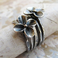 SALE25 OFF Sterling Silver Ring Metalwork by PrettyThingsGalore