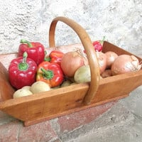 French Garden Trug by cadeauxdecatherine on Etsy
