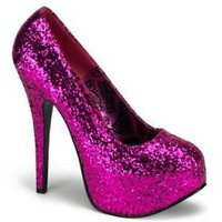 Amazon.com: Sexy Hot Pink Glitter High Heel Platform Pump - 7: Shoes