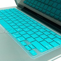 Kuzy - TURQUOISE Keyboard Silicone Cover Skin for Macbook / Macbook Pro 13