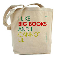 I Like Big Books And I Cannot Lie - Canvas Tote Bag - Classic Shopper - FREE SHIPPING