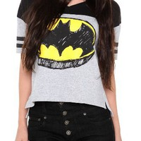 DC Comics Batman Sketch Logo Hockey Girls T-Shirt