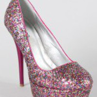 Neutral-20 Glitter Platform Pump
