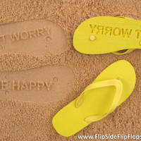 Custom Sand Imprint Flip Flops. Personalize With Your Design. No Minimum Order Quantity :)