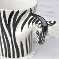Fashion Handpainted Zebra Ceramic C.. on Luulla