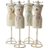 Wilco Imports Vintage Style Dressform Decor Set of Four