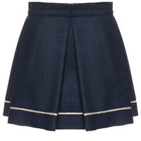 Navy Pleat Bennett Skirt | Michael Angel | Avenue32