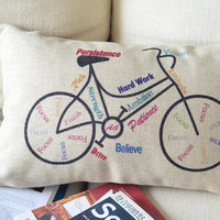 Bike Print Decorative Pillow  on Luulla