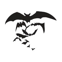 $7 Flying Bats  Spooky Vinyl Decal by Geekazoid on Etsy