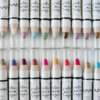 NYX Jumbo Eye Pencil Shadow Liner - ALL 27 Shades with a Free 2 in 1 Pencil Sharpener