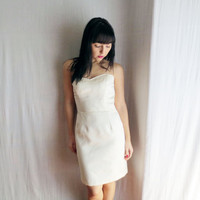 Ivory short wedding dress - ivory wedding dress vintage wedding dress short wedding gown pin up wedding dress fitted wedding dress