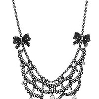 BetseyJohnson.com - CHANDELIER NECKLACE JET